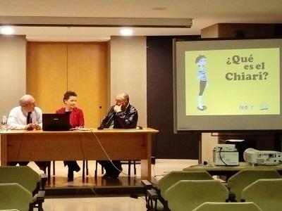 Chiari en la atención primaria Charla médica y presentación del cómic ¿Qué es Chiari? nuevo material de difusión