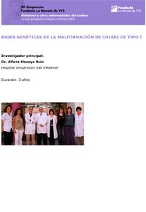 Bases geneticas de la malformacion de chiari de tipo I