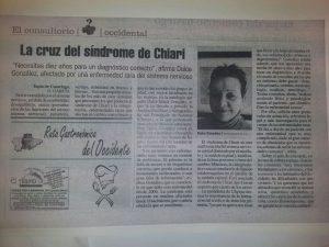 El consultorio La cruz del síndrome de Chiari testimonios