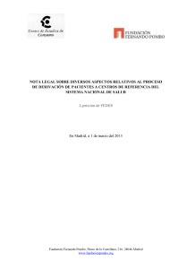 Informe Derivación de Pacientes al Centro de Referencia