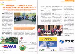 ser capaz Encuentro y convivencia de la Asociación ChySPA en Brugos 2014