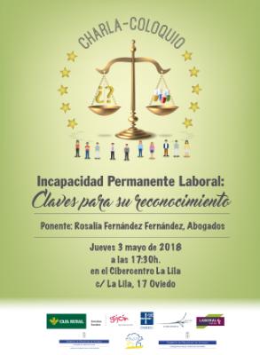 Charla coloquio Jurídica. Incapacidad Permanente Laboral: Claves para su reconocimiento