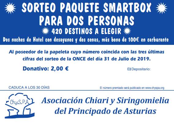ChySPA Sorteo Smartbox para dos personas