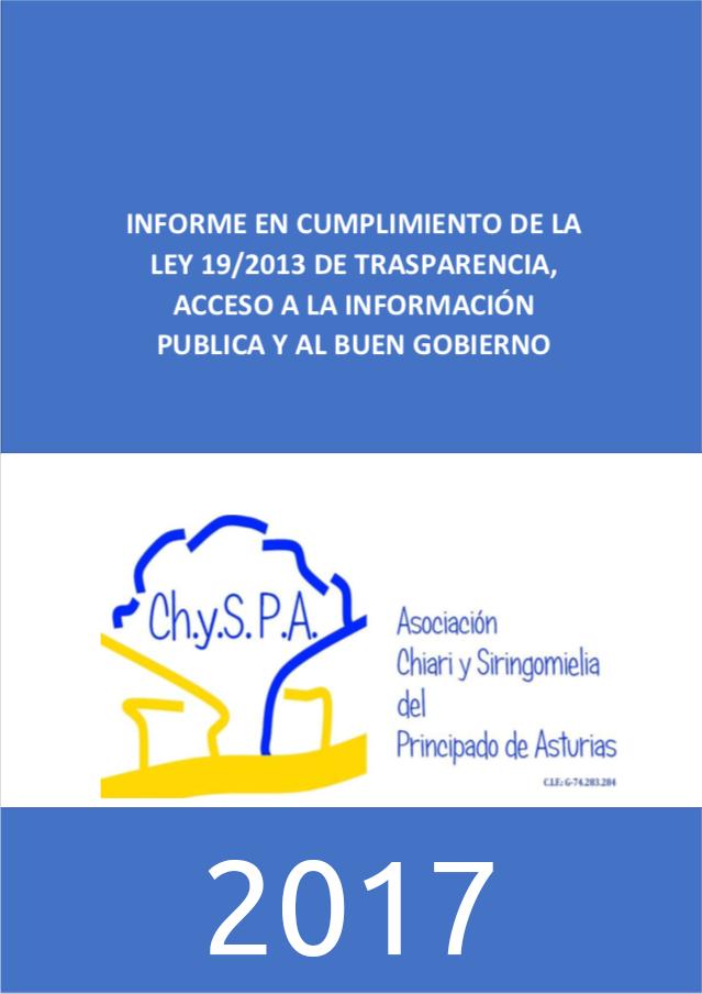 Informe en cumplimiento de la ley 19/2013 de transparencia, acceso a la información pública y al buen gobierno