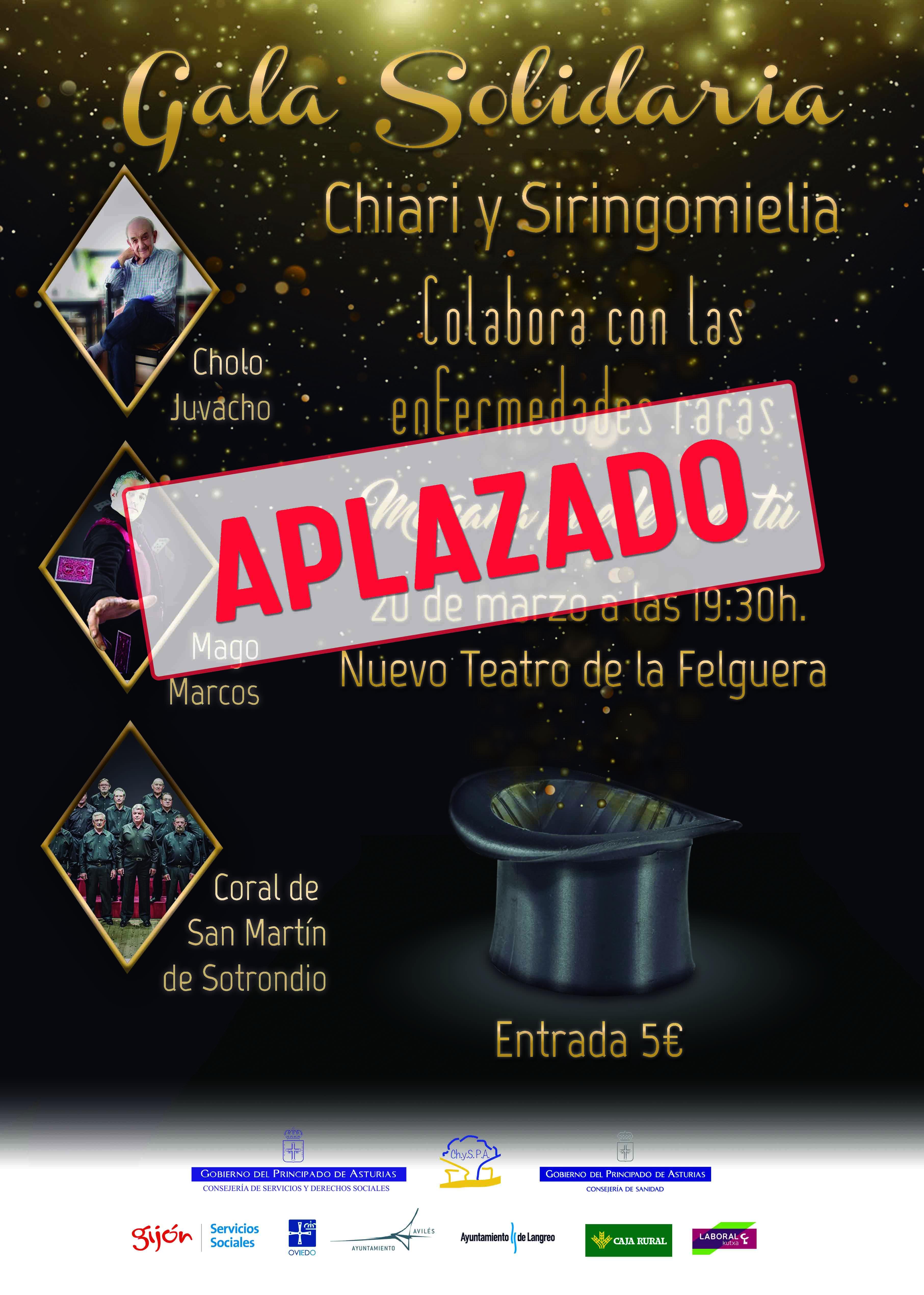 Aplazada Gala Solidaria