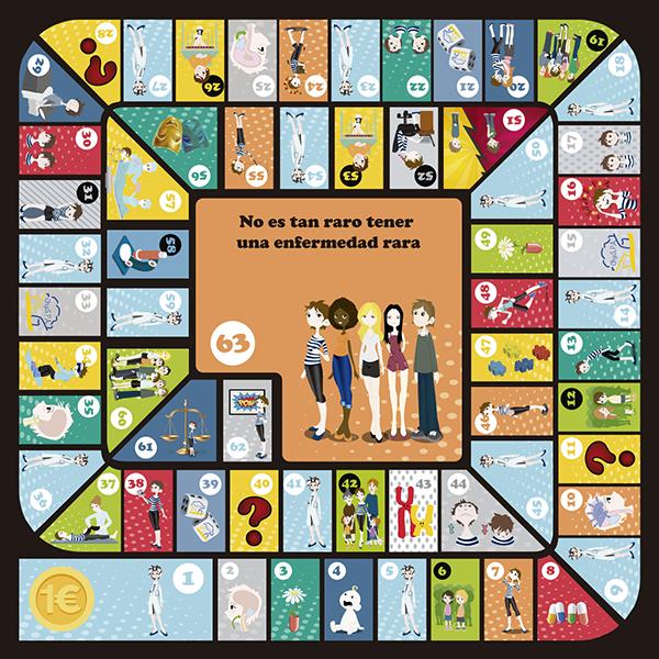 Tablero del juego de las Enfermedades Raras