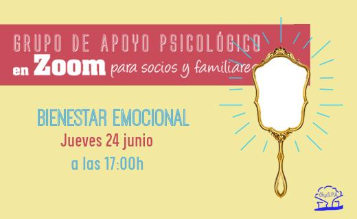 Grupo de apoyo psicológico Bienestar emocional 24 de junio de 2021