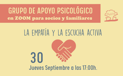 Grupo de apoyo psicológico La empatía y la escucha activa 30 de septiembre de 2021